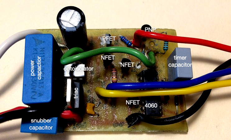 latched timed fan board