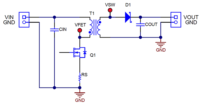 simplified flyback converter