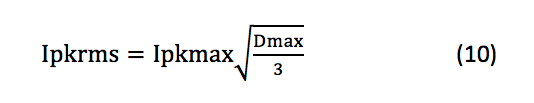 maximum root-mean-square equation