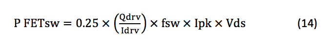 Q1 switching losses equation