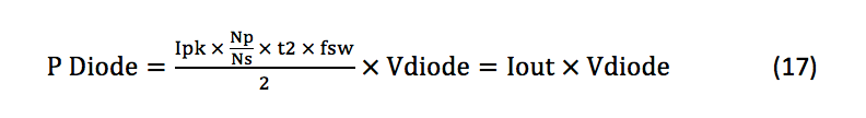 diode losses equation