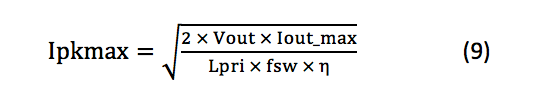 maximum Ipk equation