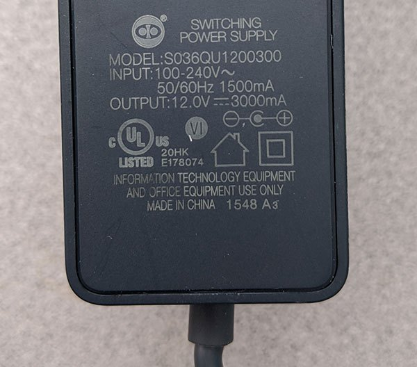 TP-Link TGR1900 router power supply specs