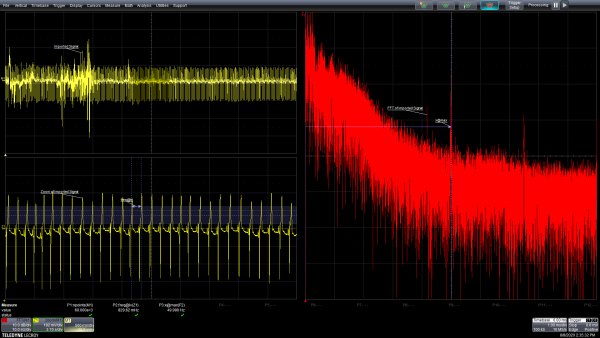 oscilloscope screenshot after file was imported