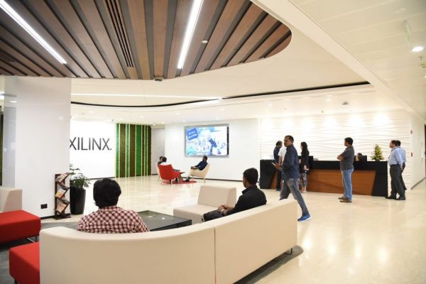 photo of the Xilinx office lobby