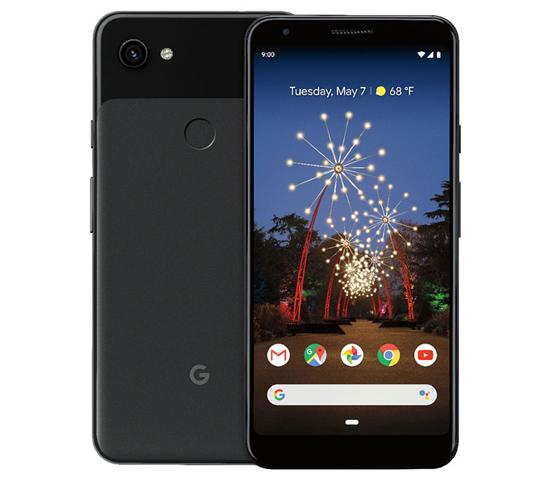Google photo of a Pixel 3a smartphone