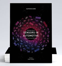 photo of the book cover for the AspenCore Guide to Sensors in Automotive