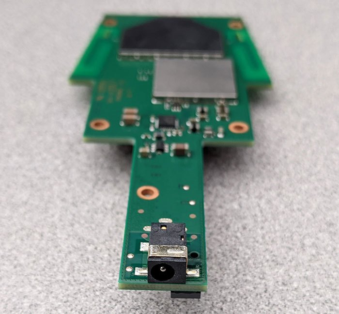 photo of the Google Home smart speaker main PCB connector