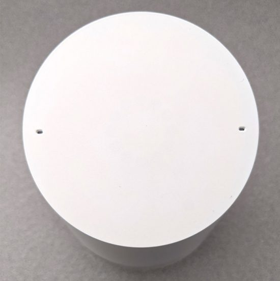 photo of the top of the Google Home smart speaker
