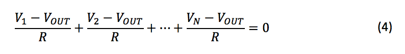 Kirchhoff's Law equation