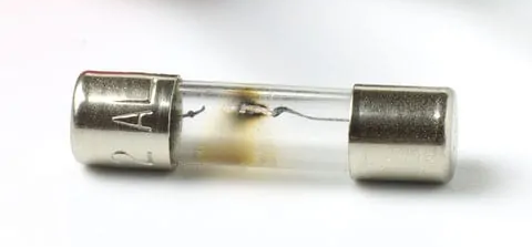 photo of a blown glass body fuse