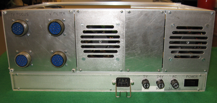 photo of a panel-mount fuseholder on a spectrograph
