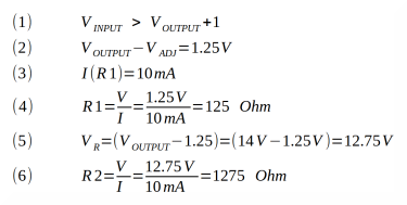equations to calculate the two resistances