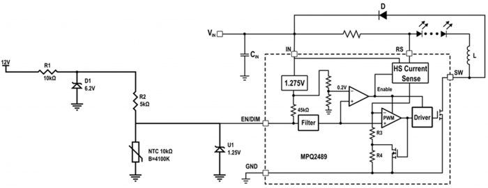PWM and analog dimming circuit using LED driver IC